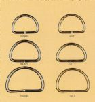 C00075 Strap D Rings: Metal : 25mm - Choice of Colour
